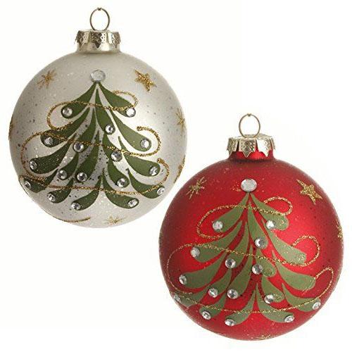 Two Christmas balls ornament