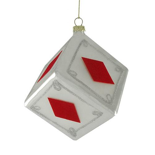 Gambling dice ornament