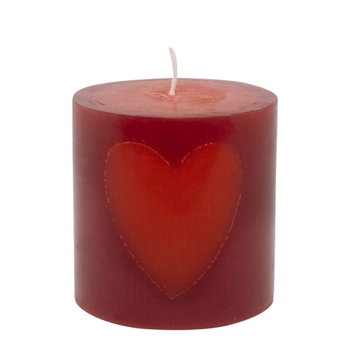 A short thick candle