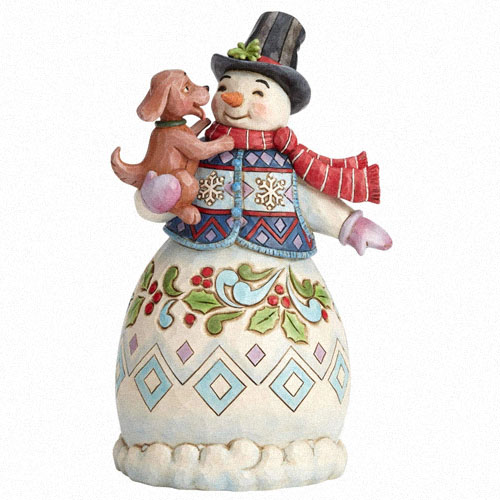 Snowman figurine from the store